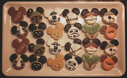 Mickey Star Wars Birthday Cookies #starwars
