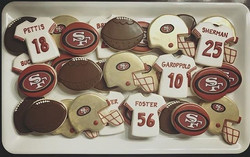 49ers Game Day Cookies