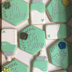 Pale Green and Silver Baby Shower