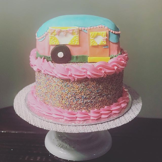Glamping Birthday Cake