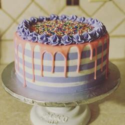 Striped Drip Cake