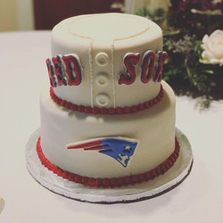 Red Sox and Patriots Groom Cake