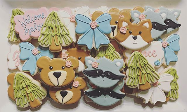 Woodland Animals Cookies 💕