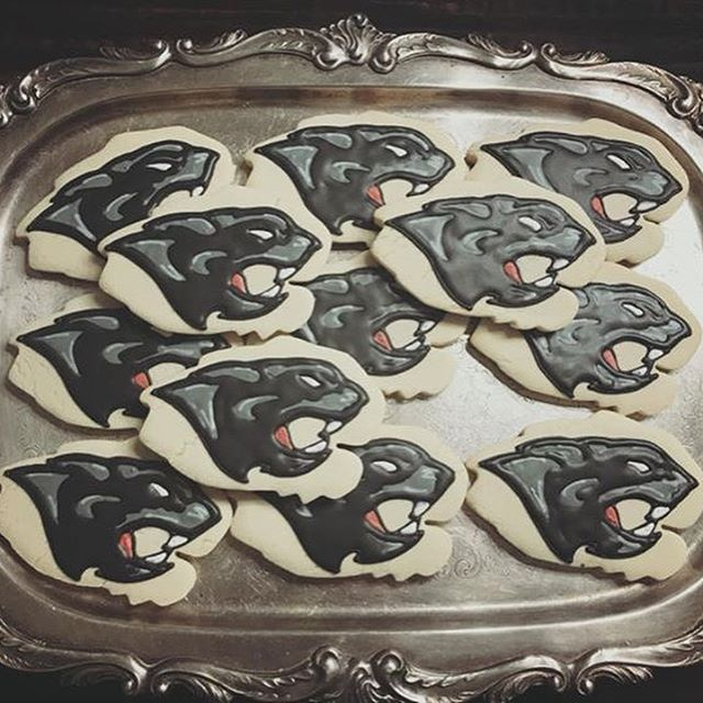 Panther Head Cookies