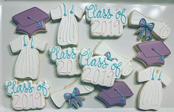 Grad Cookies to go with the mermaid cake