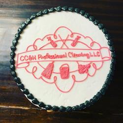 Logo Cake! _cchprofessionalcleaningllc