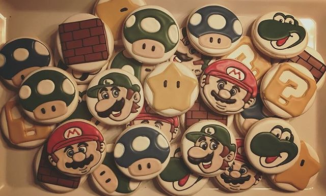 Mario Brothers Cookies #mariobros