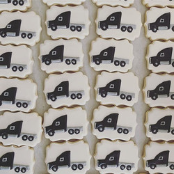Semi trucks for an 80th Birthday!