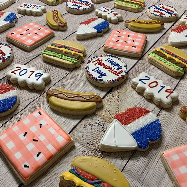 Memorial Day Picnic Cookies