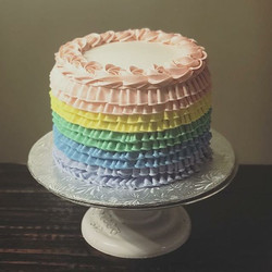 Pastel Rainbow Confetti Cake