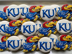 KU Jayhawks Cookies going out today for
