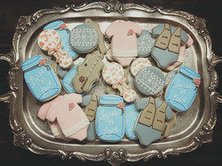 Lures or Lace Gender Reveal Cookies