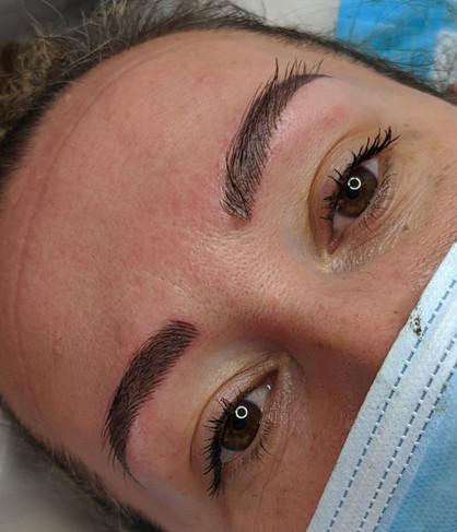 Micro-shade brows at Beyond Lashes And B