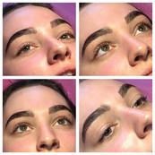 Keratin lash lift and brow lamination wi