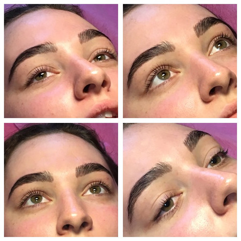 Keratin lash lift and brow lamination wi