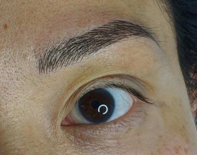 Microblading asian eyes at Beyond Lashes