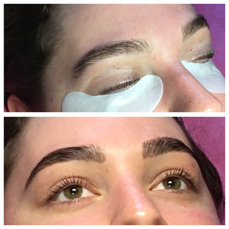 Keratin lash lift and brow lamination an