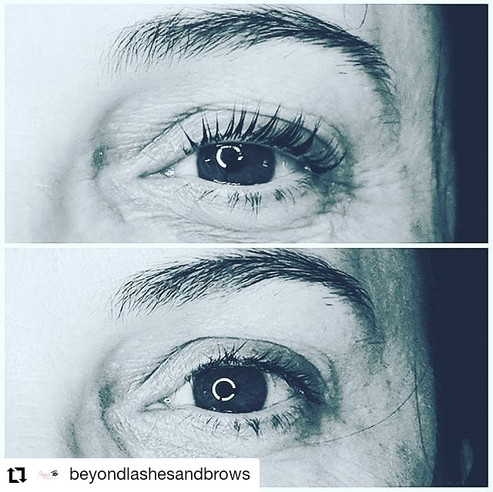 Keratin lamination at Beyond Lashes And