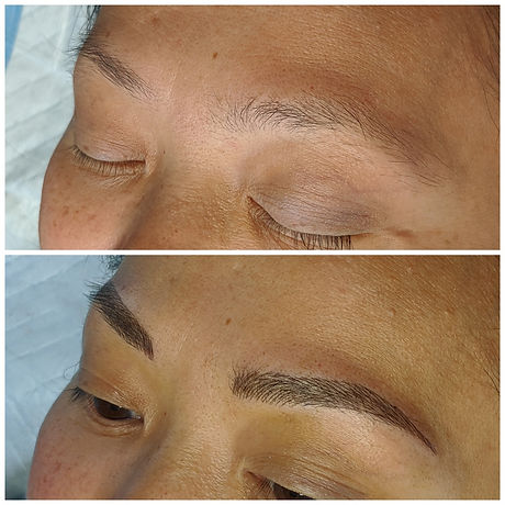 Before and After Microblading at Beyond