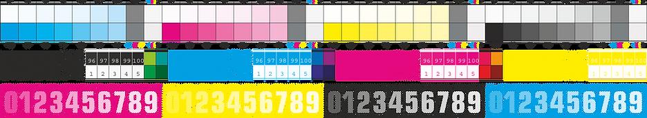 шкала для тестирования офсетной печати