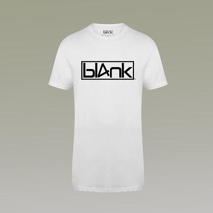 The longline black suede logo tee