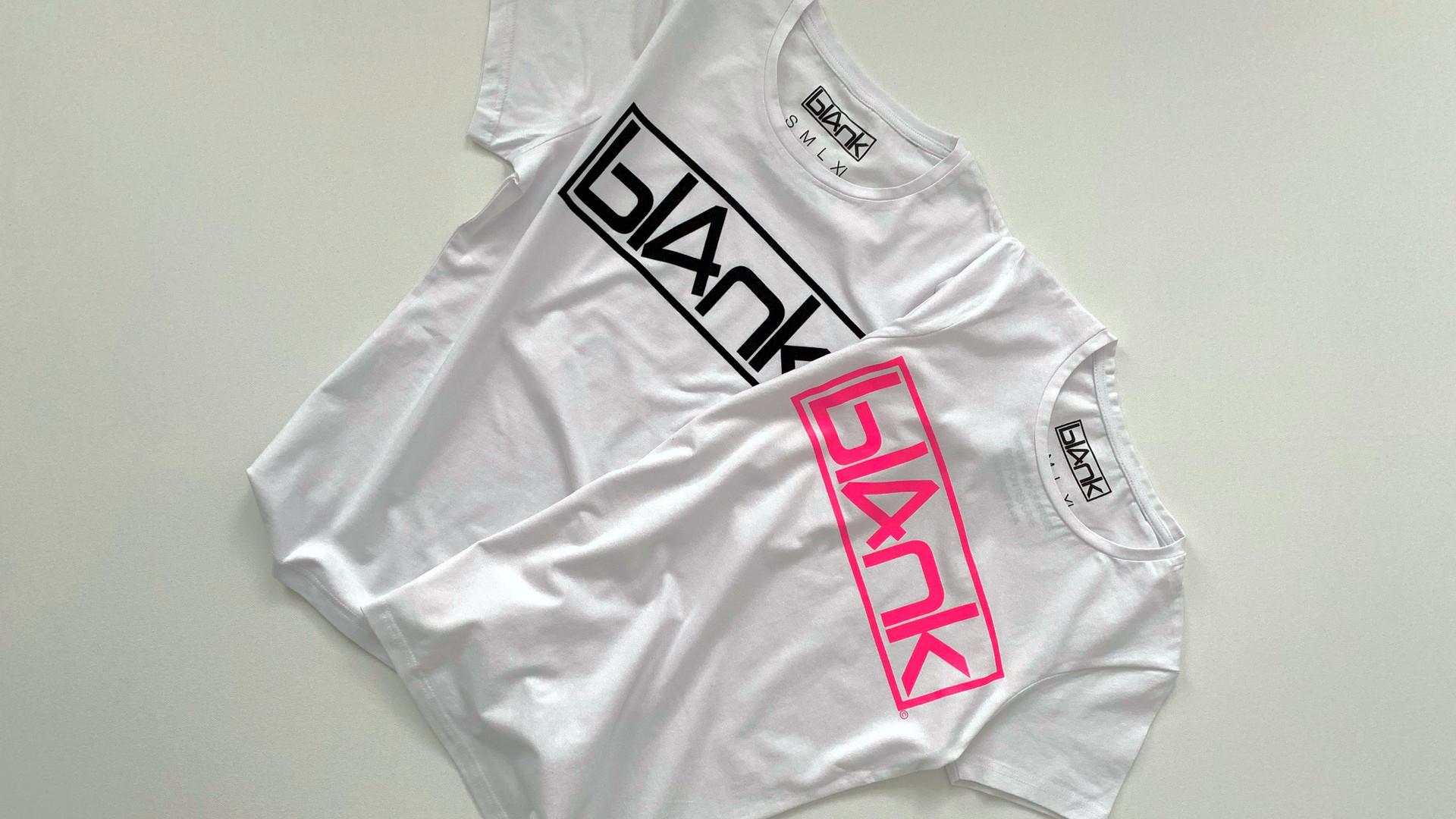 bl4nk logo womens tshirts