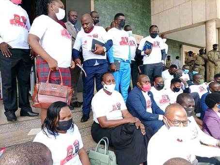 Opposition Mps Storm out of Parliament. Speaker adjourns house