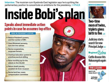 Bobiwine throws more light on the article that was published by Daily monitor regarding his plan for