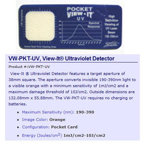 UV Laser Viewing Card [AIX-KTEK-UV]