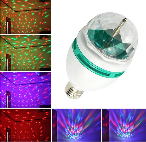 AixiZ® Rotating Strobe LED Crystal stage light for Disco party  [AIX-RGB-E27L]