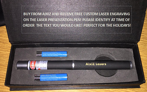 5mw 650nm laser pointer with custom engraving! [AIX-RPEC-1]