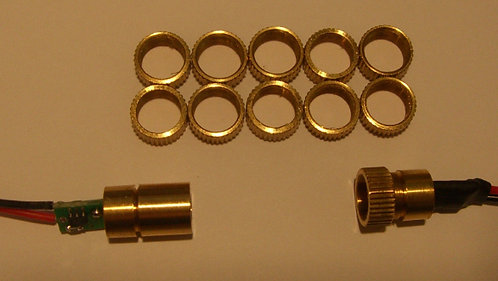 10 Pack of Metal mounting Rings for 8mm Modules
