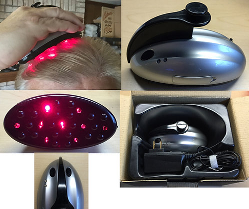 OEM Cosmetic hair laser therapy - 9 lasers with vibrating massag [AIX-LHT