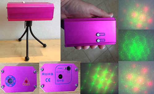Portable hand-held DJ Laser Show R/G [AIX-DJHRG-1]