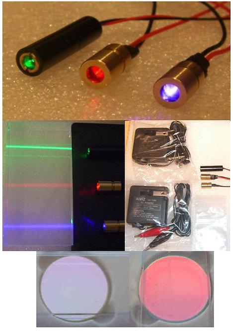Mini RGB laser kit with power supplies and optics [AIX-RGB-FULL]