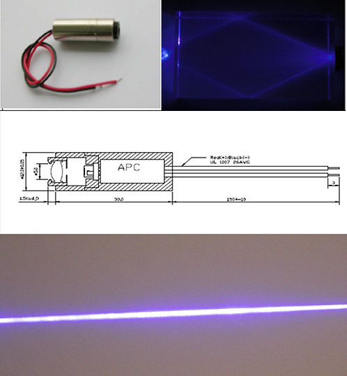 405nm line 20mW Laser Module 12x30mm [AH405-201230]m a product