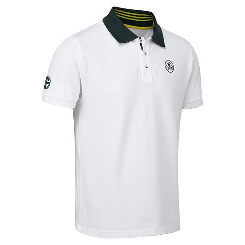 Polo shirt white【送料無料】
