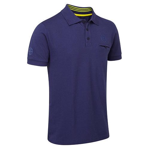 Polo shirt blue【送料無料】