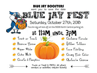 *Tickets on sale now* for Trunk or Treat: Basis Blue Jay Fest  October 27th from 11am to 3pm