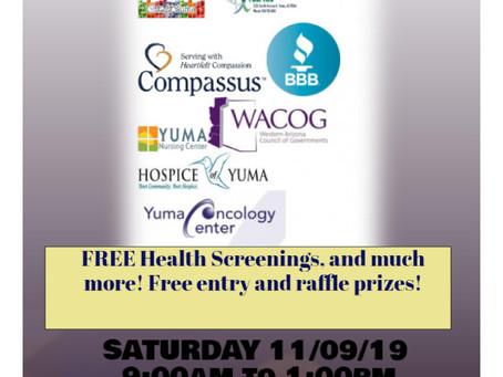 Senior Resource Fair: Saturday 11/09/2019 – 9AM to 1PM