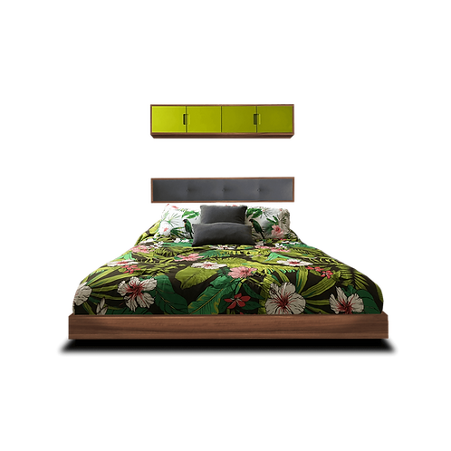 Singular bed nogal