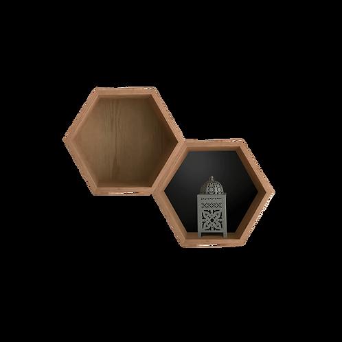The Hive Repisa Hexágono encino (una pieza)