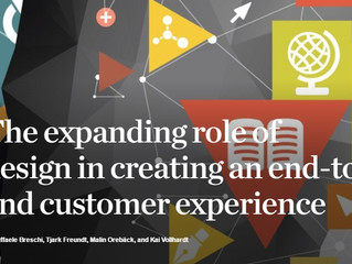 The expanding role of design in creating an end-to-end customer experience