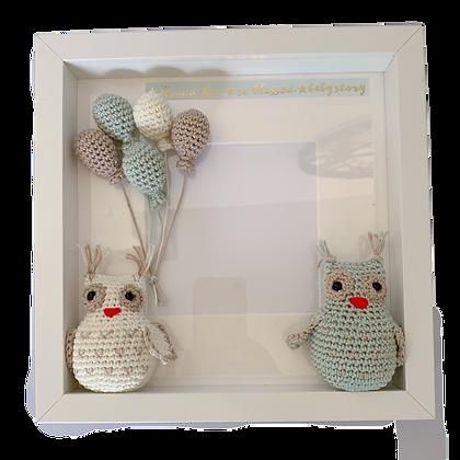 מתנה ללידה - מסגרת לתמונה בעבודת יד