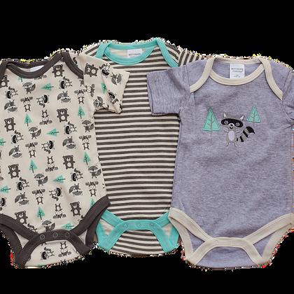 סט 3 בגדי גוף לתינוק