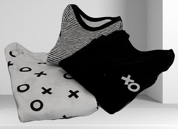 סט 3 בגדי גוף - XO