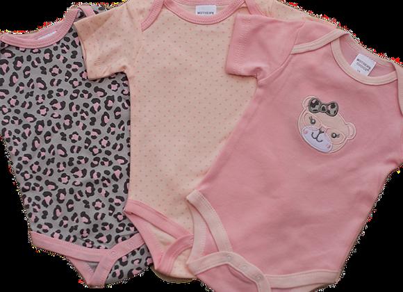 סט 3 בגדי גוף לתינוקת