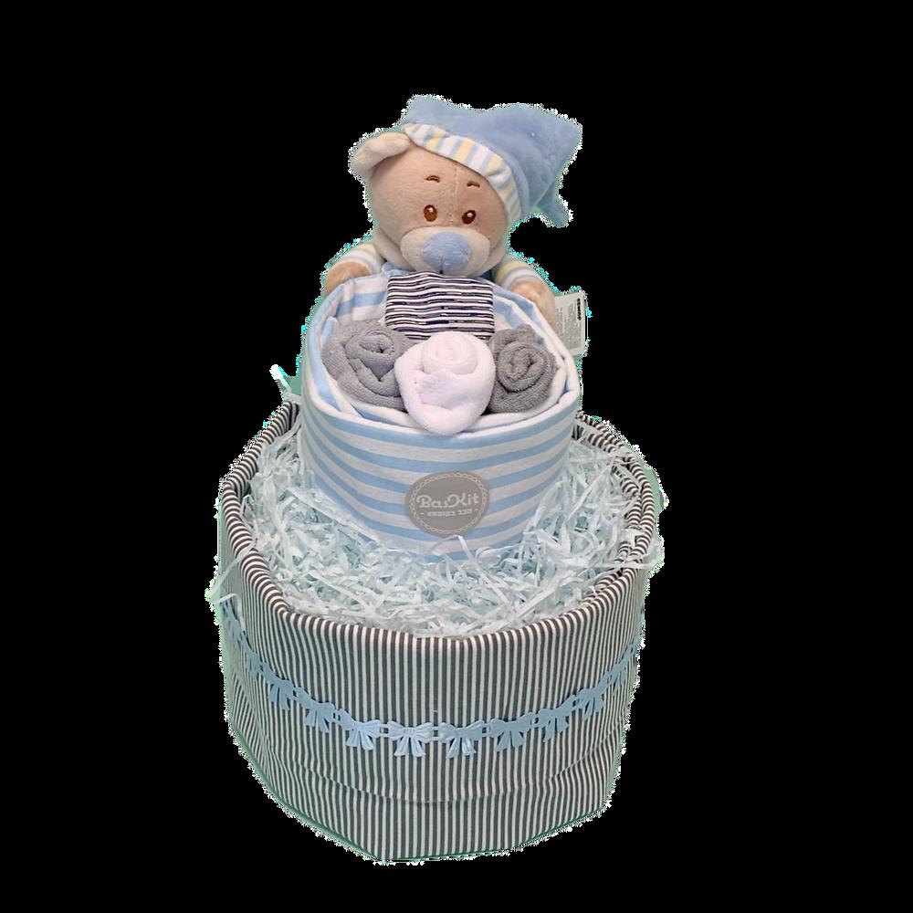 מתנה ללידה בצורת עוגת טיטולים מקסימה