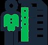 Icono de pruebas y ajustes de material de capacitación y aprendizaje