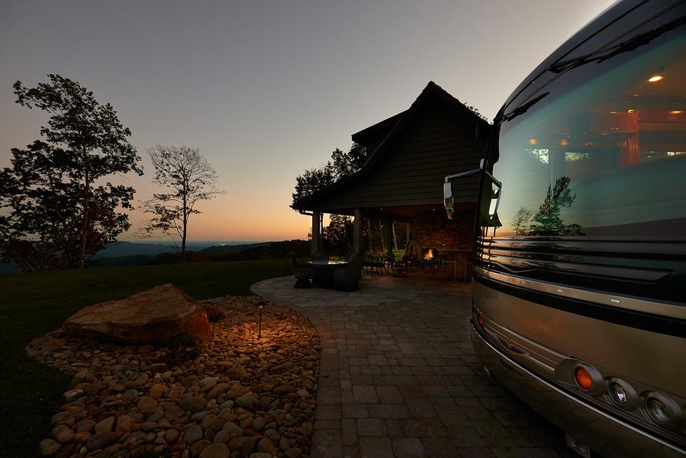 Sunset at Mountain Falls Luxury RV resort